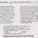 Verhaal overlijden van Janke IJzens Tamminga