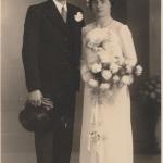 Huwelijk Karsjen Y. Tamminga N140 en Pietje Bruinsma foto 1938