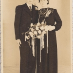 Huwelijk Meile Y. N144 en Baukje Talstra, foto 1944