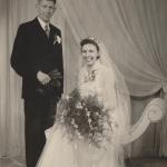 Huwelijk Pietje Y. Tamminga N146 en Adrianus G. van Osnabrugge, foto 1953