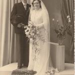 Huwelijk Jelte Y. Tammminga N148 en Bartje Langerak foto 1953