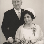 Huwelijk Hiltje Y.Tamminga N149 en Arie van den Haspel, foto 1968