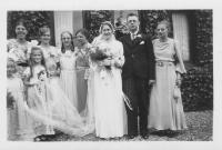 Trouwdag van Hiltje Arendina Geertruida Bramer, N22.4, en Klaas Nolles