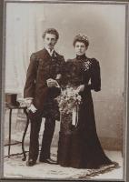 Huwelijk Benjamin Tamminga en Wietske Lettinga N.24 foto 1905