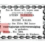 IJtzen L. Tamminga (N0) en Hiltje 40 jaar getrouwd