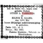IJtzen Tamminga aankondiging 50 jaar getrouwd