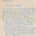 Bedankbrief en kaart voor gift van koe n.a.v Zeelandramp _1