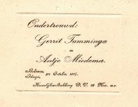 Ondertrouw Gerrit Tamminga N27